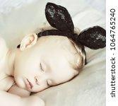 little newborn baby | Shutterstock . vector #1064765240