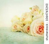fresh roses flowers | Shutterstock . vector #1064765243