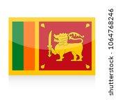 sri lanka flag vector icon  ... | Shutterstock .eps vector #1064768246