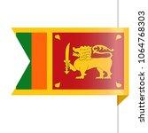 sri lanka flag vector bookmark... | Shutterstock .eps vector #1064768303