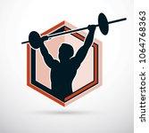 vector illustration of strong... | Shutterstock .eps vector #1064768363