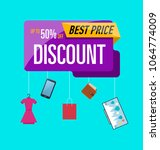 best price poster with various... | Shutterstock .eps vector #1064774009