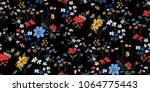 Stock vector seamless floral pattern in vector 1064775443