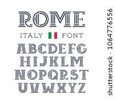 italy font. vector alphabet... | Shutterstock .eps vector #1064776556