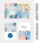 collection of creative... | Shutterstock .eps vector #1064778203