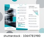 business trifold brochure... | Shutterstock .eps vector #1064781980
