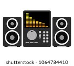 music audio player with speakers | Shutterstock .eps vector #1064784410