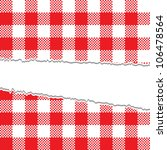 ripped retro tablecloth texture | Shutterstock .eps vector #106478564