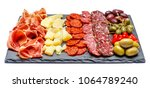 meat and cheese plate with...   Shutterstock . vector #1064789240