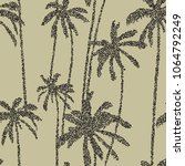 palm trees seamless pattern... | Shutterstock .eps vector #1064792249