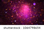 abstract chaotic glittering... | Shutterstock . vector #1064798654