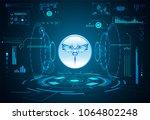 abstract health hud ui... | Shutterstock .eps vector #1064802248