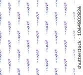 cute seamless watercolor floral ... | Shutterstock . vector #1064802836