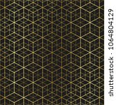 golden geometric abstract... | Shutterstock .eps vector #1064804129