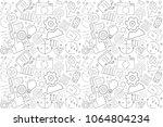 vector seo pattern. seo... | Shutterstock .eps vector #1064804234
