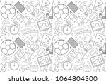 vector football pattern.... | Shutterstock .eps vector #1064804300