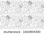 vector football pattern.... | Shutterstock .eps vector #1064804300