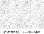 vector education pattern.... | Shutterstock .eps vector #1064804306