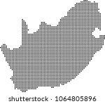 south africa map dots vector...   Shutterstock .eps vector #1064805896