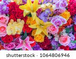 beautiful flowers background. | Shutterstock . vector #1064806946