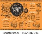sandwich restaurant menu.... | Shutterstock .eps vector #1064807243