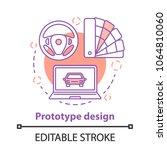 prototype design concept icon.... | Shutterstock .eps vector #1064810060