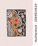 illustration depicting a girl... | Shutterstock .eps vector #1064814614