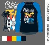 california t shirt printing...   Shutterstock .eps vector #1064815490