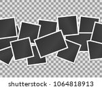 composition of realistic black... | Shutterstock .eps vector #1064818913