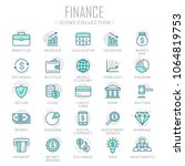 collection of finance thin line ... | Shutterstock .eps vector #1064819753