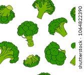 broccoli hand drawn vector... | Shutterstock .eps vector #1064822390