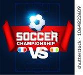 soccer championship poster... | Shutterstock .eps vector #1064822609
