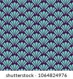 seamless leaves geometric art...   Shutterstock .eps vector #1064824976