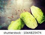 composition with fresh... | Shutterstock . vector #1064825474