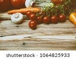 composition with fresh...   Shutterstock . vector #1064825933