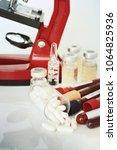 medical equipment. microscope.    Shutterstock . vector #1064825936