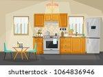 kitchen interior view  room...   Shutterstock .eps vector #1064836946