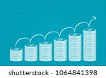 abstract financial chart with... | Shutterstock .eps vector #1064841398