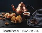 turkish traditional dessert... | Shutterstock . vector #1064845016