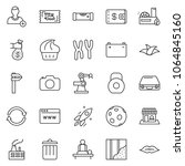 thin line icon set   wallet... | Shutterstock .eps vector #1064845160
