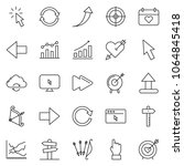 thin line icon set   chart... | Shutterstock .eps vector #1064845418