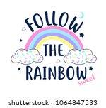 rainbow vector illustration for ...   Shutterstock .eps vector #1064847533
