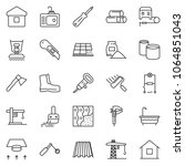 thin line icon set   cutter... | Shutterstock .eps vector #1064851043