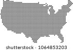 usa map dots vector outline... | Shutterstock .eps vector #1064853203