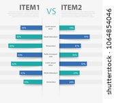 product comparison table with... | Shutterstock .eps vector #1064854046