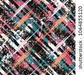 vector seamless bold plaid... | Shutterstock .eps vector #1064855120