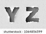 alphabet ripped paper on...   Shutterstock .eps vector #1064856599