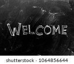 welcome handwritten on... | Shutterstock . vector #1064856644