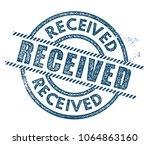 received rubber stamp | Shutterstock .eps vector #1064863160