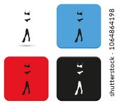 woman lingerie flat vector icon.... | Shutterstock .eps vector #1064864198